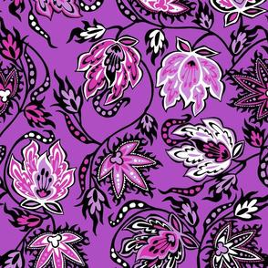 Tropical Protea Floral - Violet