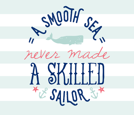 Skilled Sailor fabric by elystrations on Spoonflower - custom fabric