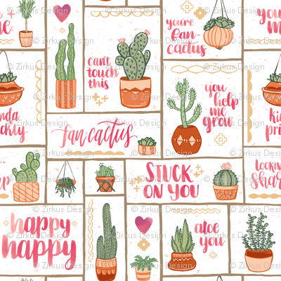 You're Fan-Cactus! // Uplifting Southwest Cactus Design