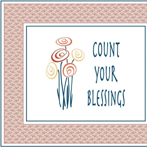 Count your blessings retro wall art