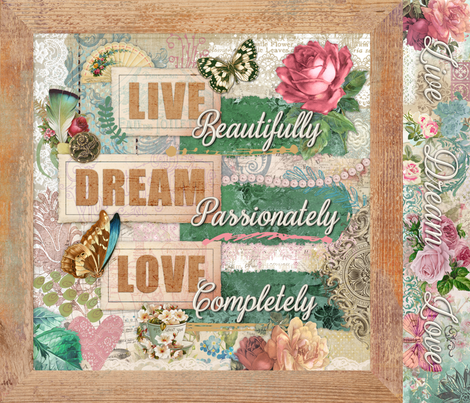Affirmation Shabby Chic fabric by malibu_creative on Spoonflower - custom fabric