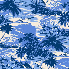 Hawaiian Island Scenic- Tonal Blues
