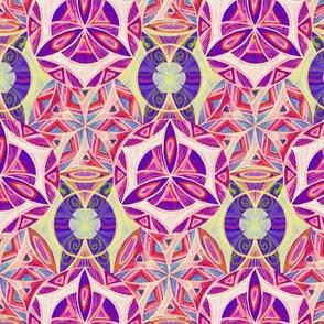 Mandalas Circle Pattern Fabric Handdrawing