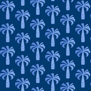 Hawaiian Vintage Palm Tree - Navy Blue