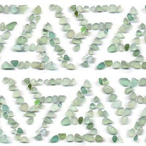 Sea glass - green triskelion