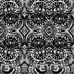 B_W abstract stack eyes