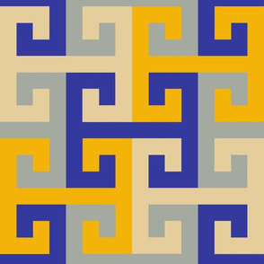 Tesselating T Greek Key Trendy1920s Colors 3