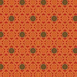 Chinese Geometrics Red XXS
