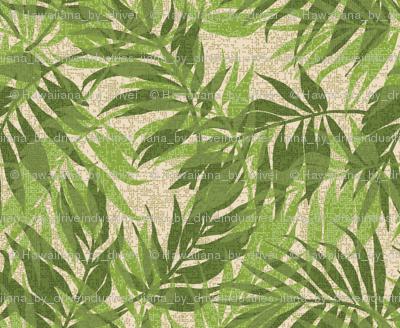 Hawaiian Tropical Vintage Palms - Green