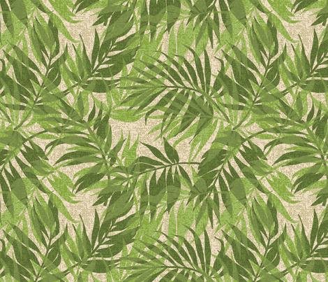 Hawaiian Tropical Vintage Palms - Green fabric by hawaiiana_by_driveindustries on Spoonflower - custom fabric
