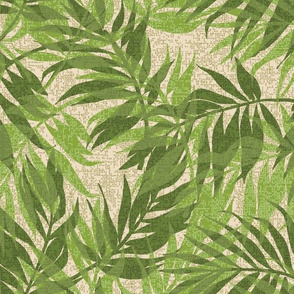 Hawaiian Tropical Vintage Palms - Green