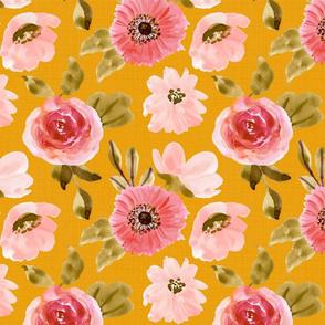 Gabby Floral Mustard