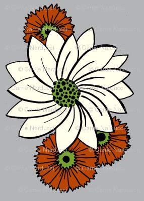 Spiral floral_grey