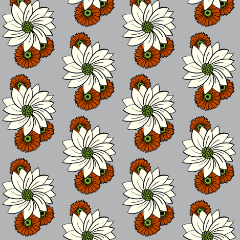 Spiral floral_grey fabric by carrie_narducci on Spoonflower - custom fabric