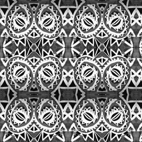 B&W Spiral Dragon Eye