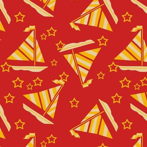 Sailboats and Stars Trendy1920s Colors 1
