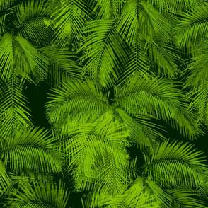 Watercolor Palm Jungle
