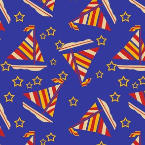 Sailboats and Stars Trendy1920s Colors 2