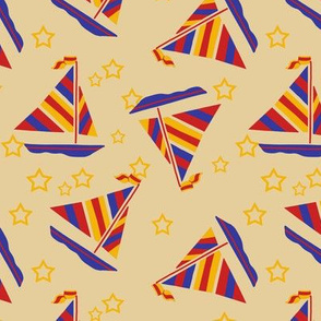 Sailboats and Stars Trendy1920s Colors 3