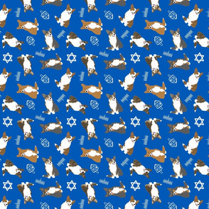 Tiny Cardigan Welsh Corgi - Hanukkah