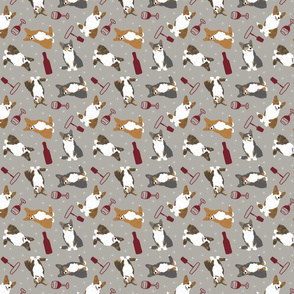 Tiny Cardigan Welsh Corgi - wine