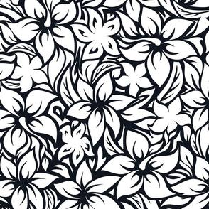Black and White Hawaiian Hibiscus