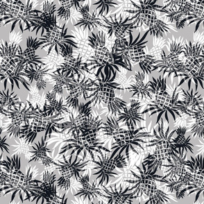 Hawaiian Pineapple Camo -Black and Gray