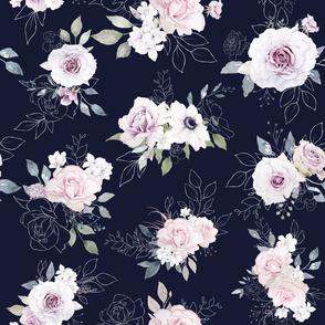Blushing Floral Navy