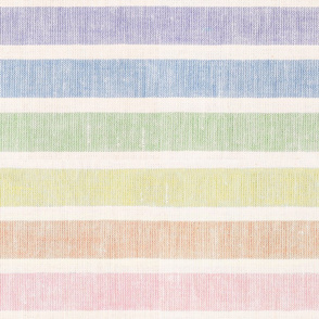 Rainbow Linen Towel