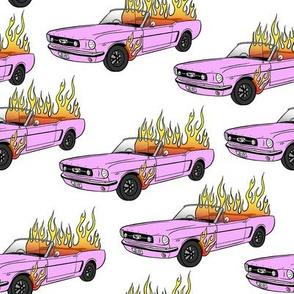 Burning Mustang // Pink Car in Flames