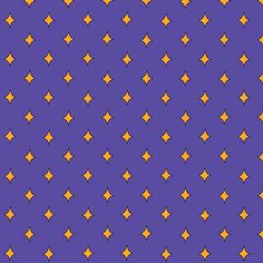 Gold Diamonds on Purple