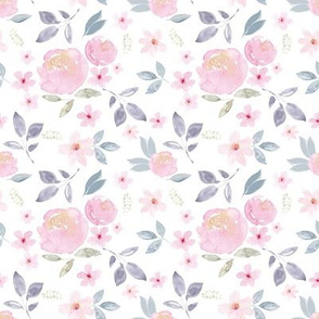 Cherry Blossom Rose Florals Vintage SMALL