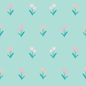 Minimal flower in mint color