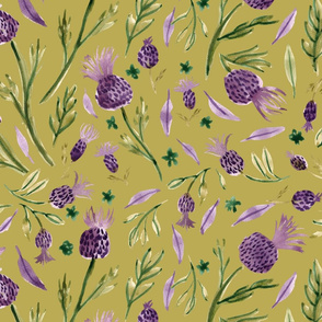 thistle OLIVE