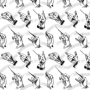 Conductor's hands (pattern in black and white)