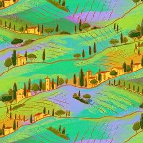 Italian sunset landscape