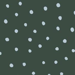 Minimal dots trend abstract rain drops scandinavian style texture irregular spots green blue winter
