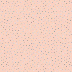 Minimal tiny mini dots trend abstract rain drops scandinavian style texture irregular spots peach nude blue winter SMALL