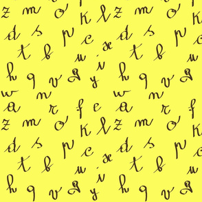 yellow alphabet