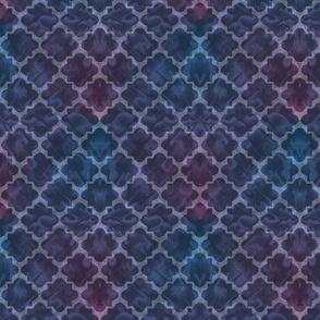 Moody Blue Deco Tile Fratal