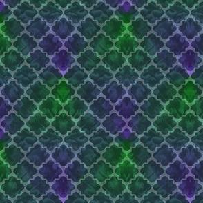 Dark Green Deco Tile Fractal