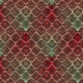Dark Red Deco Fractal
