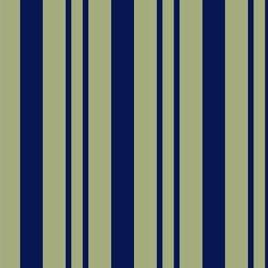JP31 - Rhythmic Stripe in Navy and Pastel Olive