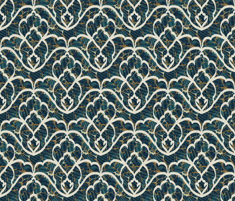 Turkish  Marbled Paper fabric by louisehenderson on Spoonflower - custom fabric