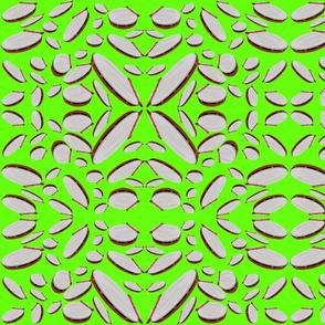 Irish Drum (Bodhran) on Bright Green: DulciArt,LLC