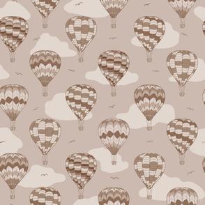 Vintage monochrome air balloons