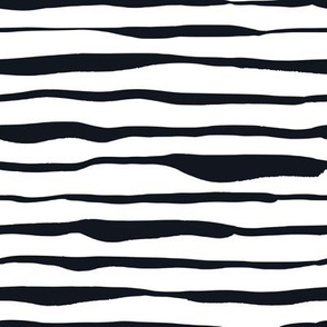 Black and White Doodles - Uneven Stripes