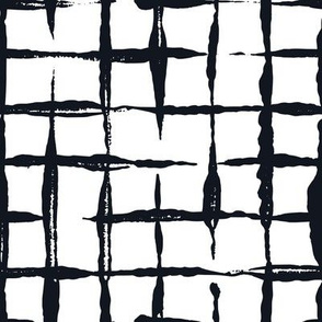 Black and White Doodles - Jumbo Checkered