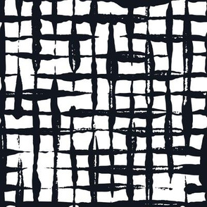 Black and White Doodles - Small Checkered