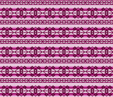 basicchart-pink fabric by spunky_eclectic on Spoonflower - custom fabric